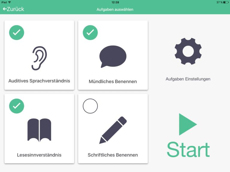 neolexon Therapeuten-App Übungsauswahl